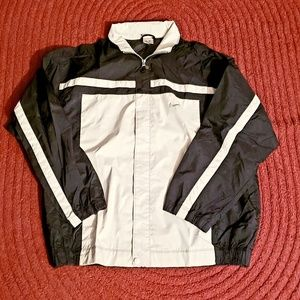 90s Nike Windbreaker Men's XL Black and White